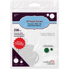 Scrapbook Adhesives 3L 3D Foam Circles - White Mix