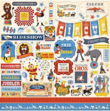 Carta Bella Circus Cardstock Stickers 12X12 -  Elements