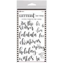 Ranger Letter It Clear Stamp Set 4X6 - Christmas