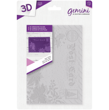 Crafters Companion Gemini 5x7 3D Embossing Folder - Dear Santa