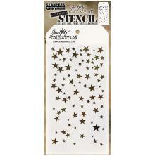 Tim Holtz Layered Stencil 4.125X8.5 - Falling Stars