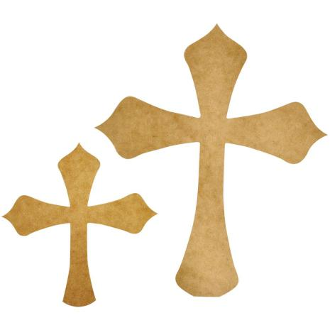 Kaisercraft Beyond The Page MDF - Decorative Crosses 2/Pkg