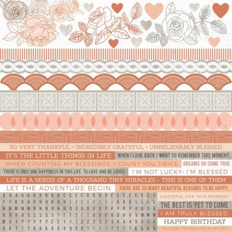 Kaisercraft Cardstock Stickers 12X12 - Peachy