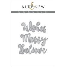 Altenew Die Set - Holiday Script Words