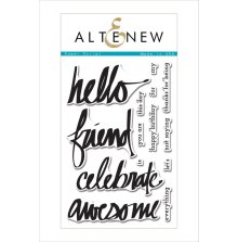Altenew Clear Stamps 4X6 - Super Script