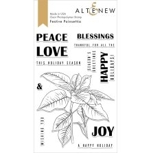Altenew Clear Stamps 4X6 - Festive Poinsettia