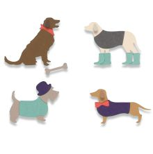 Sizzix Framelits Die Set 10PK - Country Canines