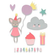 Sizzix Framelits Die Set 17PK - Birthday Girl
