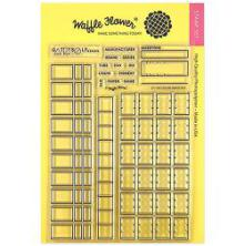 Waffle Flower Crafts Clear Stamp 5X7 - Color Swatches