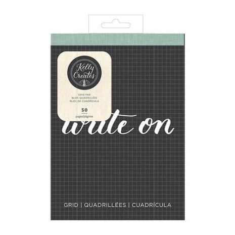 Kelly Creates Travel Practice Pad 6X8 50/Pkg - White/Grid