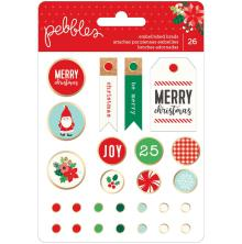 Pebbles Decorative Brads 26/Pkg - Cozy & Bright