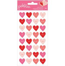 Pebbles Puffy Stickers 32/Pkg - Loves Me