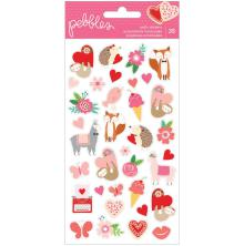 Pebbles Puffy Stickers 35/Pkg - Loves Me