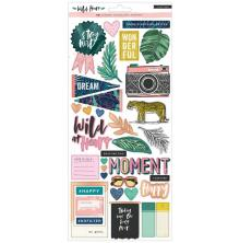 Crate Paper Stickers 6X12 2/Pkg - Wild Heart