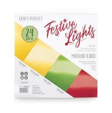 Tonic Studios Craft Perfect 6x6 Card Packs - Festive Lights 9406E