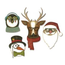 Tim Holtz Sizzix Thinlits Die Set 24PK - Cool Yule