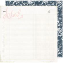 Heidi Swapp Emerson Lane Double-Sided Cardstock 12X12 - Details