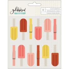 One Canoe Two Clothespins 12/Pkg - Goldenrod