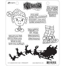 Dylusions Cling Stamp 8.5X7 - Elf Improvement Class