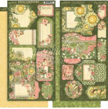 Graphic 45 Imagine Cardstock Die-Cuts 6X12 Sheets 2/Pkg - Garden Goddess