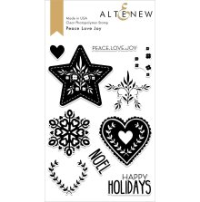 Altenew Clear Stamps 4X6 - Peace Love Joy