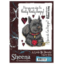 Sheena Douglass A Little Bit Sketchy A6 Stamp Set - I Love YOu