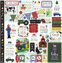 Echo Park Down On The Farm Cardstock Stickers 12X12 - Elements