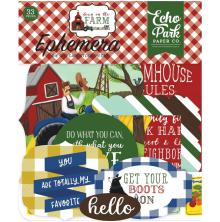 Echo Park Down On The Farm Cardstock Die-Cuts 33/Pkg - Icons