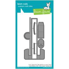 Lawn Fawn Custom Craft Die - Lets Toast Pull Tab Add-On