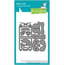 Lawn Fawn Custom Craft Die - Tiny Gift Box With Raccoon & Fox Add-On
