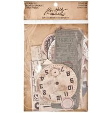 Tim Holtz Idea-ology Ephemera Pack 63 Pieces - Expedition