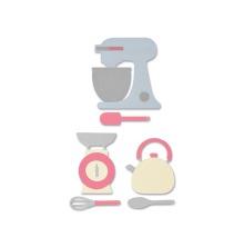 Sizzix Thinlits Die Set 10PK - Kitchen Set 19-01