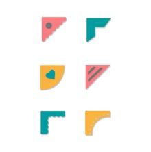 Sizzix Thinlits Die Set 7PK - Creative Corners 19-01
