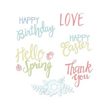 Sizzix Clear Stamps - Spring Phrases 19-01