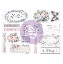Prima Marketing Chipboard Stickers 15/Pkg - Poetic Rose