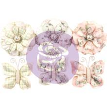 Prima Marketing Poetic Rose Paper Flowers 6/Pkg - Dainty Dreams W/Butterflies