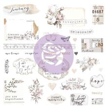 Prima Marketing Ephemera Cardstock & Sticker Sheet 65/Pkg - Pretty Pale