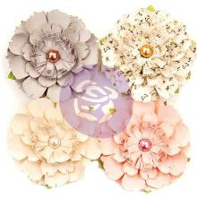 Prima Spring Farmhouse Mulberry Paper Flowers 4/Pkg - Heart & Home