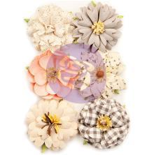 Prima Spring Farmhouse Mulberry Paper Flowers 6/Pkg - Farmhouse Delight