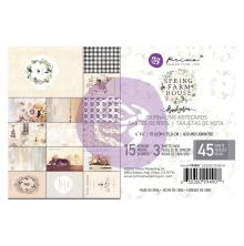 Prima Marketing Journaling Cards Pad 4X6 45/Pkg - Spring Farmhouse