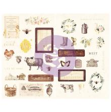 Prima Chipboard Stickers 35/Pkg - Spring Farmhouse