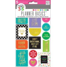 Me & My Big Ideas Happy Planner Stickers 5 Sheets/Pkg - Bright Hustle