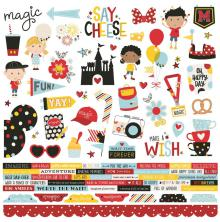 Simple Stories Say Cheese 4 Cardstock Stickers 12X12 - Combo