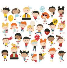 Simple Stories Say Cheese 4 Bits & Pieces Die-Cuts 28/Pkg - Happy Kids