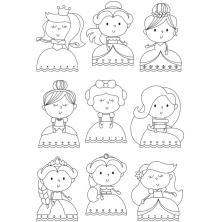Simple Stories Little Princess Clear Stamps 4X6 - Pretty Princess