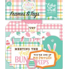 Echo Park Easter Wishes Cardstock Die-Cuts 33/Pkg - Frames & Tags