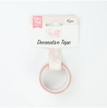 Echo Park Hello Baby Girl Decorative Tape 15ft - Sweet Dreams
