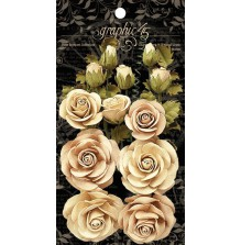 Graphic 45 Staples Rose Bouquet Collection 15/Pkg - Classic Ivory & Natural Line