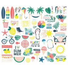 Simple Stories Bits & Pieces Die-Cuts 55/Pkg - Sunshine & Blue Skies