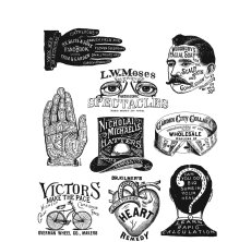 Tim Holtz Cling Stamps 7X8.5 - Eclectic Adverts